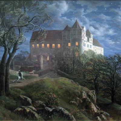 1827_Oehme_Burg_Scharfenberg_bei_Nacht_anagoria