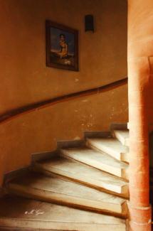 schloss scharfenberg treppe