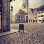 frauenkirche meissen im nebel