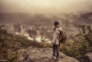 Blick vom Götterfelsen nach Buschbad