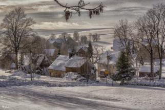 winterlandschaft bei seiffen