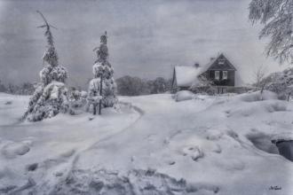 cínovec 2019 schnee