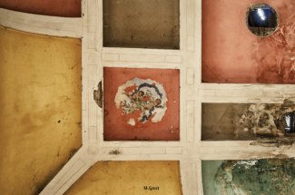 Deckenmalerei im Gasthof Gauernitz