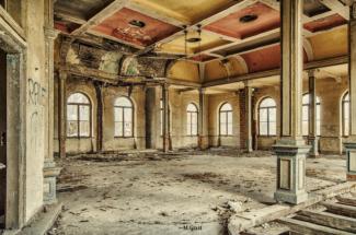 Tanzsaal des Gasthofs in Gauernitz