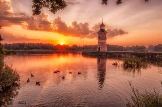 leuchtturm moritzburg leinwand