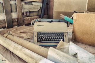 Schreibmaschine im Hamburger Hof